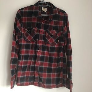 👽 Vans casual plaid button down shirt